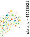 水彩 背景 カラフルのイラスト 45088921