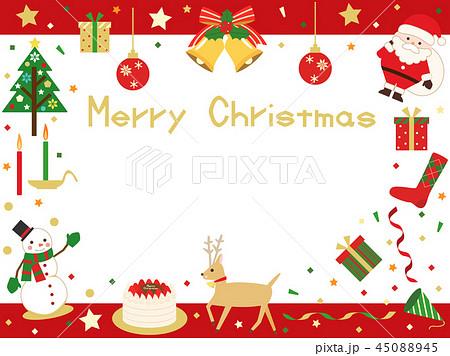 クリスマスカード23のイラスト素材