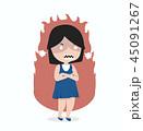 怒っている 怒り 子のイラスト 45091267