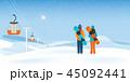 スノーボーダー ゆき スノーのイラスト 45092441
