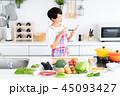 主婦 キッチン 食材の写真 45093427
