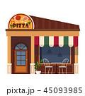 外観 飲食店 店舗のイラスト 45093985