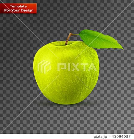 Green apple on transparent background 45094087