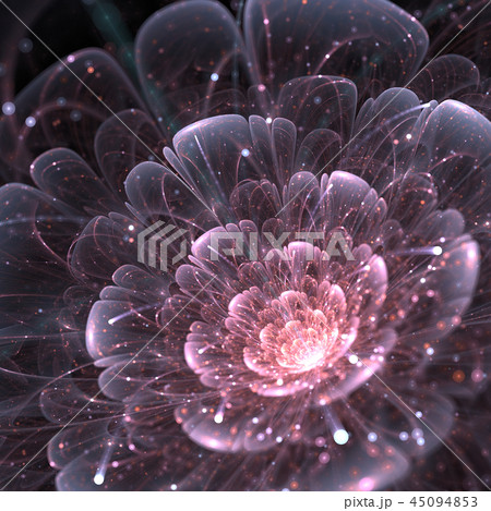 pink abstract flower with sparkles 45094853