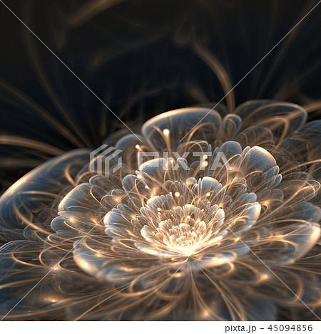 dark blue fractal flower with golden rays 45094856