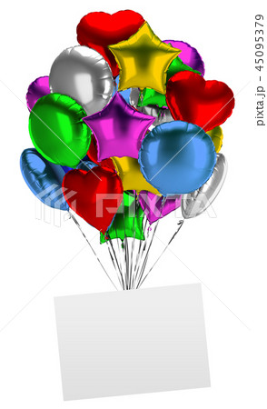 bunch of balloons with an empty board 45095379