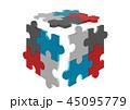 バックグラウンド カラフル 色とりどりのイラスト 45095779