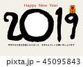 年賀状 亥年 亥のイラスト 45095843