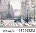 風景 道 街のイラスト 45096858