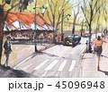 風景 道 街のイラスト 45096948