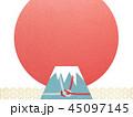 富士山 日の出 背景のイラスト 45097145