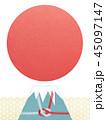 富士山 日の出 背景のイラスト 45097147