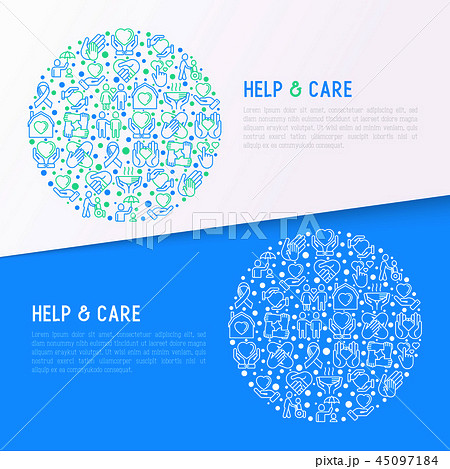 Help and care concept in circle 45097184