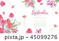 カレンダー 暦 フローラルのイラスト 45099276