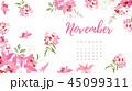 2018 カレンダー 暦のイラスト 45099311