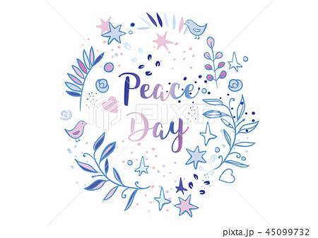 Holiday greetings illustration International Peace Day 45099732