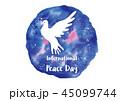 平和 鳩 鳥のイラスト 45099744