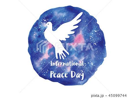 Holiday greetings illustration International Peace Day 45099744