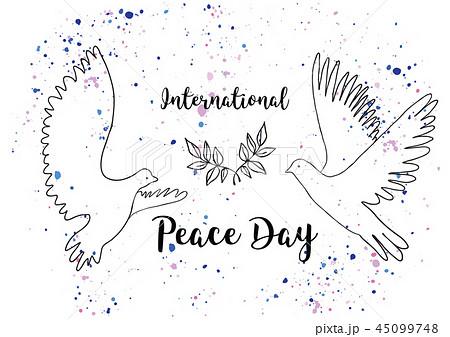 Holiday greetings illustration International Peace Day 45099748