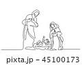 クリスマス イエス イエスキリストのイラスト 45100173