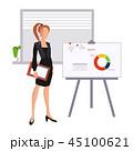 ビジネス ボード 発表のイラスト 45100621