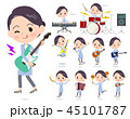 女性 楽器 音楽のイラスト 45101787