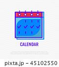 カレンダー 暦 アイコンのイラスト 45102550
