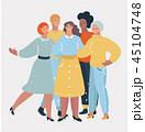 グループ にこやか 女性のイラスト 45104748