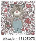 ねこ ネコ 猫のイラスト 45105073