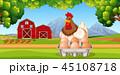 ニワトリ たまご 卵のイラスト 45108718