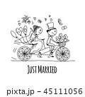 花婿 ベクトル ウェディングのイラスト 45111056