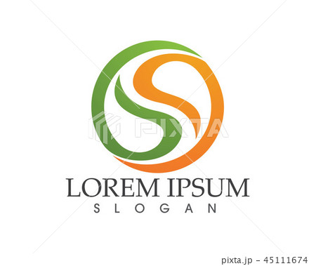 business corporate letter s logo design vectorのイラスト素材