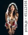 サンタ 女 女の人の写真 45112456