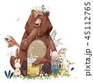 動物 くま クマのイラスト 45112765