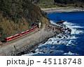 今井浜海岸を行くキンメ電車 45118748