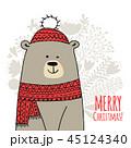 クリスマス 冬 グリーティングのイラスト 45124340