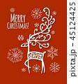 ベクター クリスマス しかのイラスト 45124425