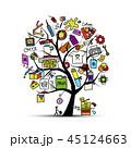プリンタ プリンター 印刷機のイラスト 45124663