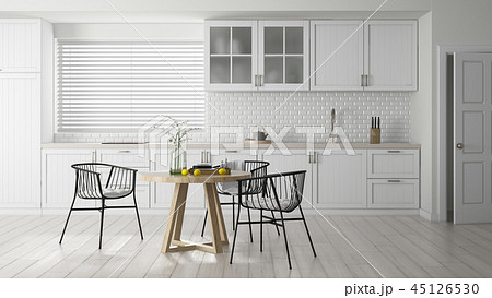Interior modern design room 3D illustration 45126530