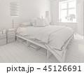 ホワイト 空間 部屋のイラスト 45126691