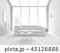 ホワイト 空間 部屋のイラスト 45126888