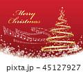 クリスマス クリスマスツリー ツリーのイラスト 45127927