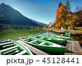 ボート 湖 景色の写真 45128441