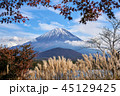 富士山 世界遺産 秋の写真 45129425