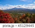 富士山 紅葉 世界遺産の写真 45129445
