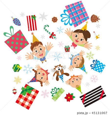 クリスマスのプレゼントが家族に舞い降りる 45131007