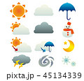 天気 アイコン 気象のイラスト 45134339