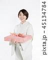 女性 着物 お中元の写真 45134784