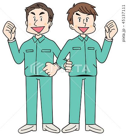 作業着を着た男性グループ 45137111