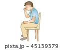 応急手当イラスト65:鼻血 45139379